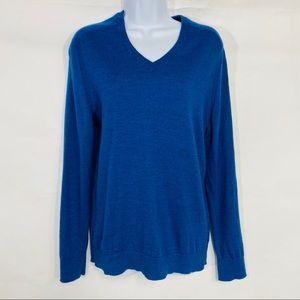 Express | Blue Wool Blended Long Sleeve Sweater M